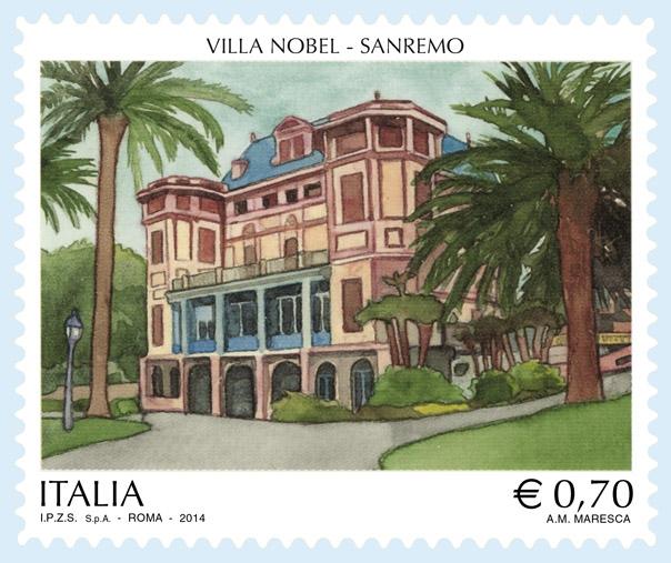 Francobollo-Villa-Nobel-a-Sanremo