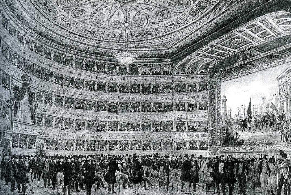 Театр Ла Фениче в 1773 году © verdi.san.beniculturali.it