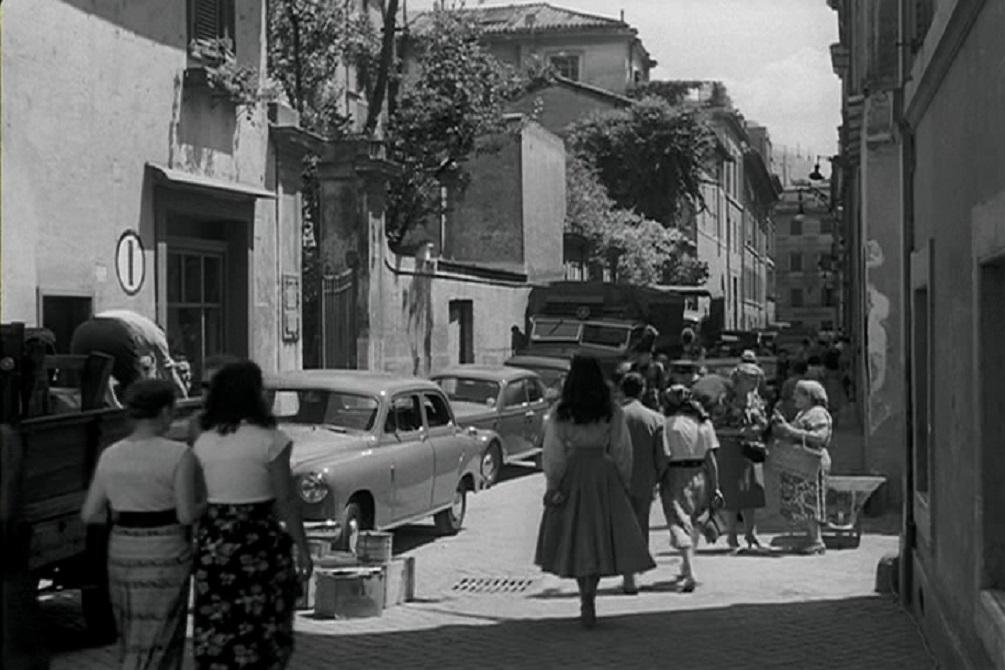 Via Marguta, Le Vacanze Romane, 1953