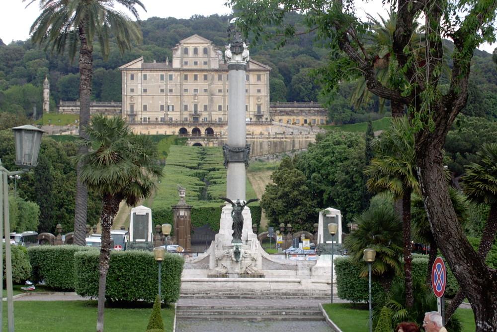 Вид на виллу Альдобрандини