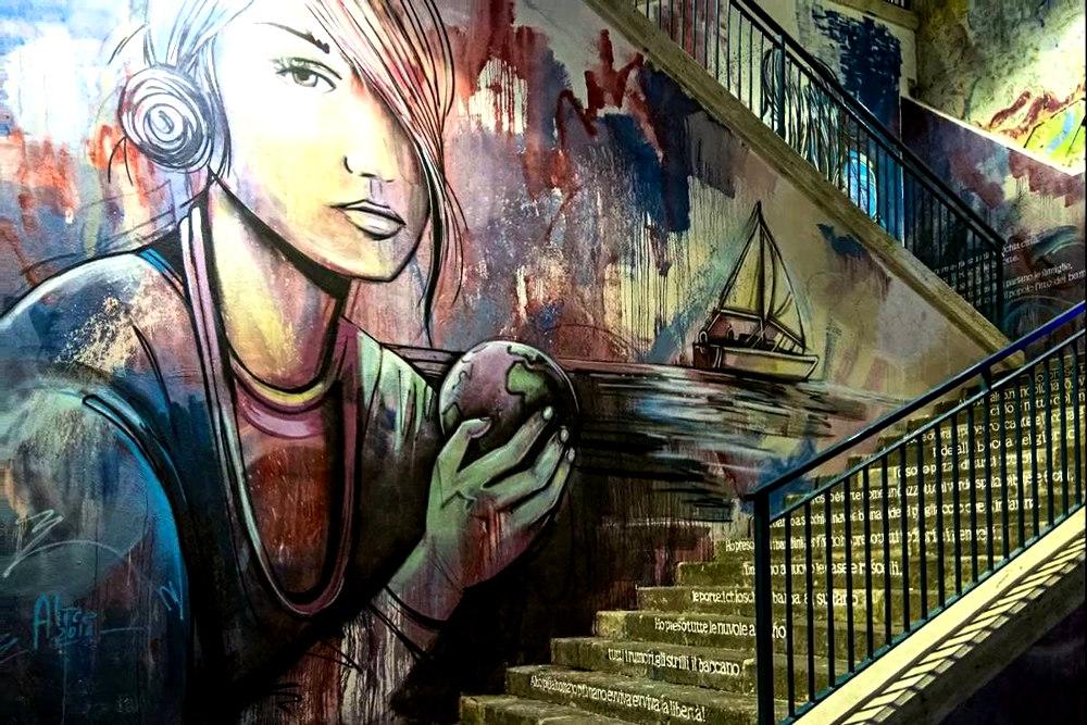 Граффити в центре Салерно © oscar leone