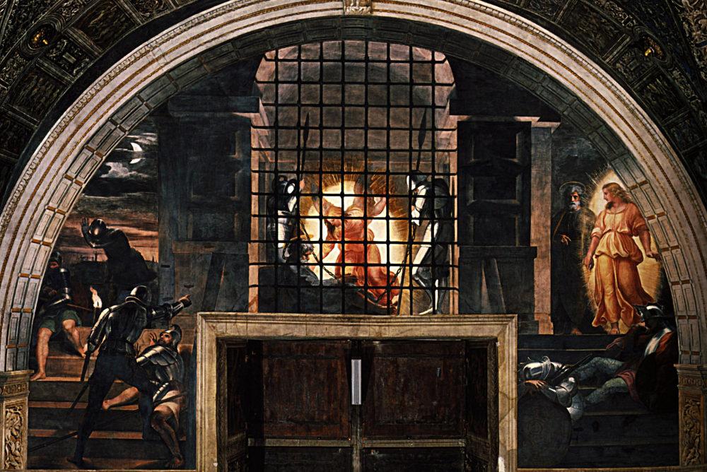 «Освобождение Святого Петра», Рафаэль, 1513-1514