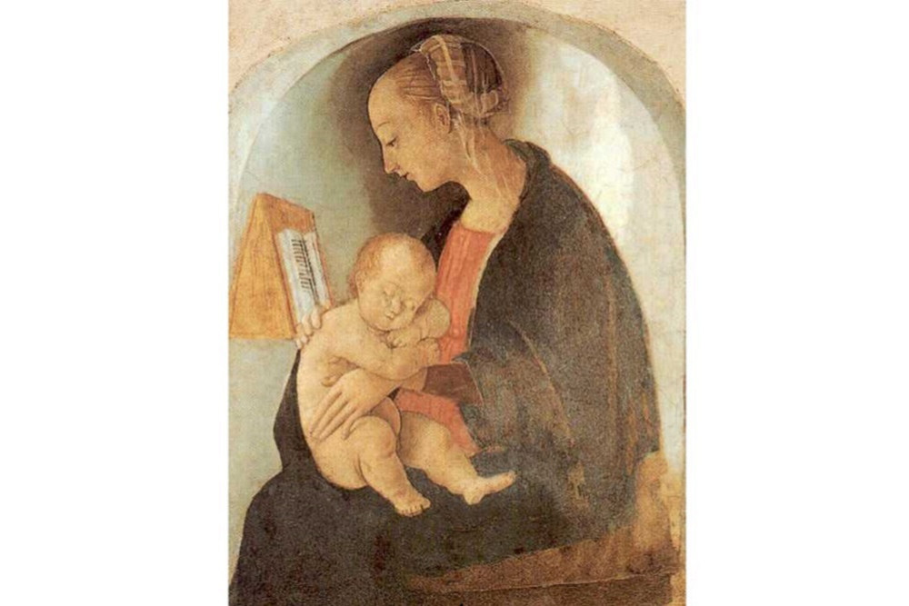Raffaello, Madonna col bambino, 1498