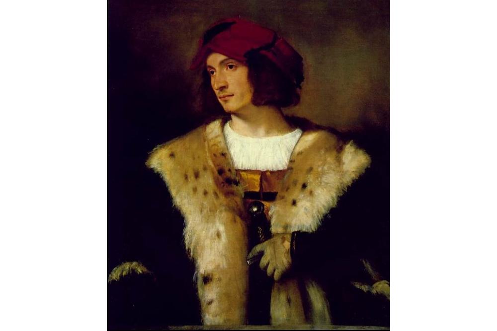 Портрет мужчины в красной шляпе. 1516. Коллекция Фрик, Нью-Йорк