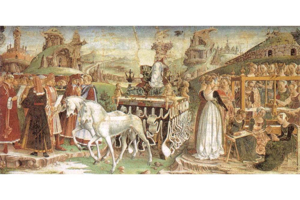 Trionfo di Minerva, Francesco del Cossa / Wikimedia Commons