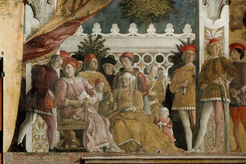 Andrea Mantegna, Ludovico Gonzaga e la sua corte, affresco della Camera degli Spos