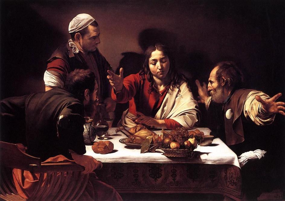 Караваджо, «Ужин в Эммаусе», 1601-1602, Национальная галерея, Лондон