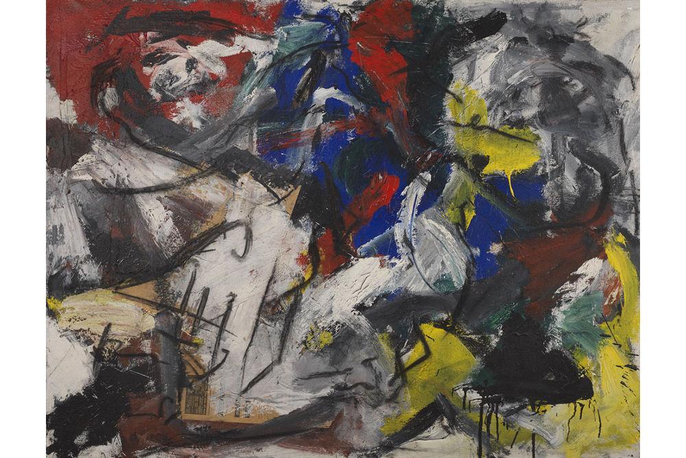 Эмилио Ведова, Из циклаo 61/62, 1962, масло, холст, см 145,5 x 186, частная коллекция
