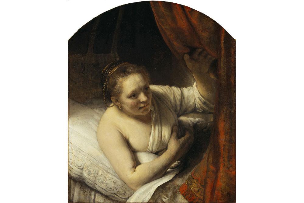 Рембрандт. Женщина в постели, 164[7?] , Национальная галерея Шотландии, Эдинбург