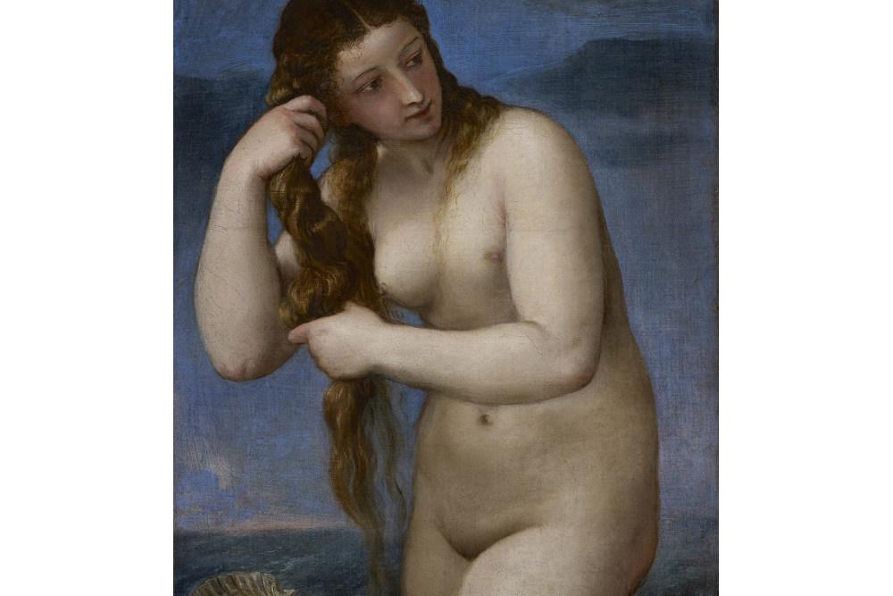 Тициан Вечеллио, Венера Анадиомена, около 1520, Национальная галерея Шотландии, Эдинбург