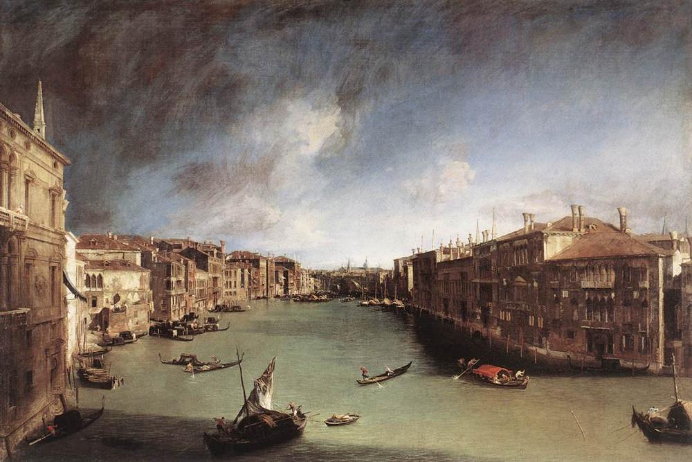 l canal Grande verso Rialto (1723 circa, Venezia, Museo del Settecento Veneziano)