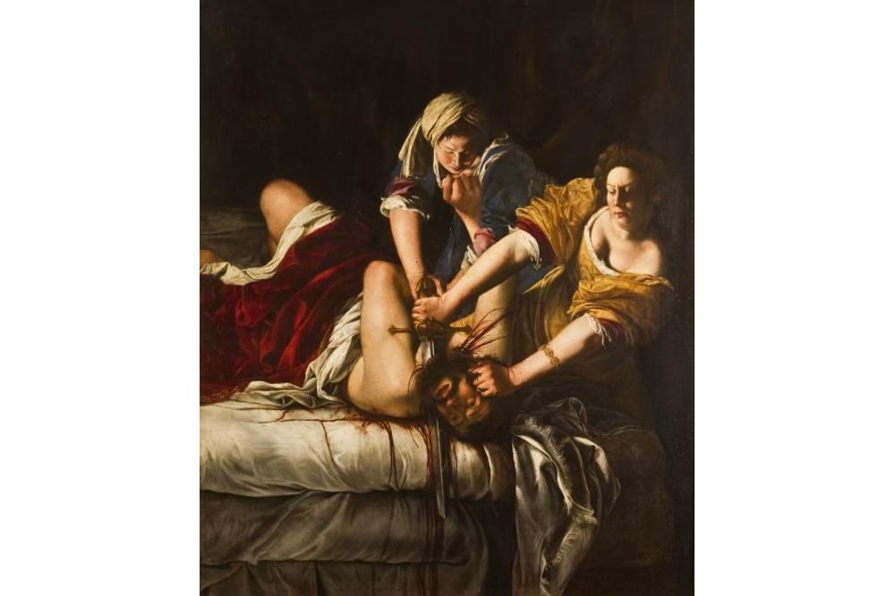 Артемизия Джентилески, Юдифь обезглавливающая Олоферна, около 1620-21. Холст, масло, 199x162,5 см, Флоренция, Галерея Уффици