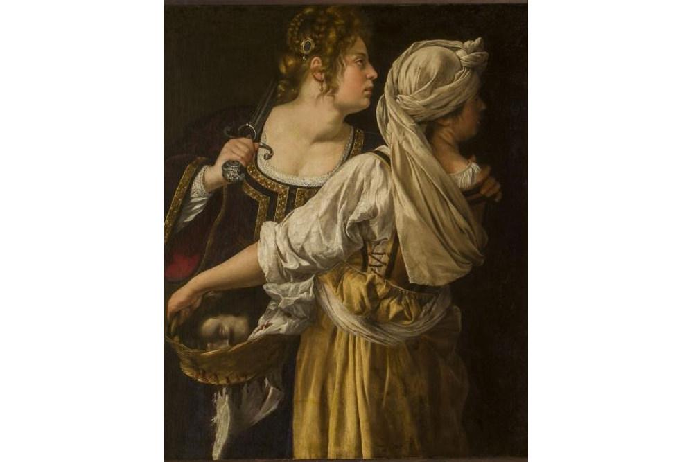 Артемизия Джентилески, Юдифь и её служанка Абра, около 1613. Холст, масло,, 114x93,5 см. Флоренция, Галерея Уффици