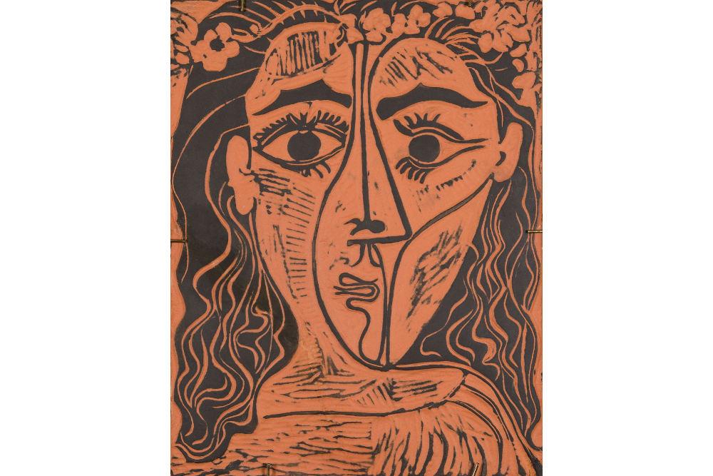 """Пабло Пикассо, """"Голова женщины в цветочном венке"""", 1964"""