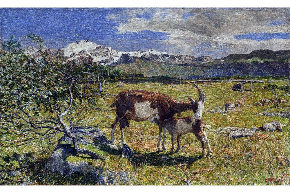 """Джованни Сегантини, """"Альпы в мае"""", масло, холст 55x86 см"""