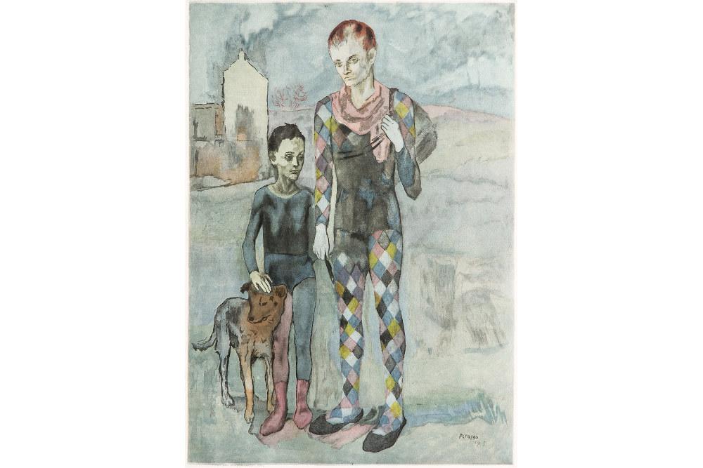 """Пабло Пикассо, """"Акробаты"""", 1922"""