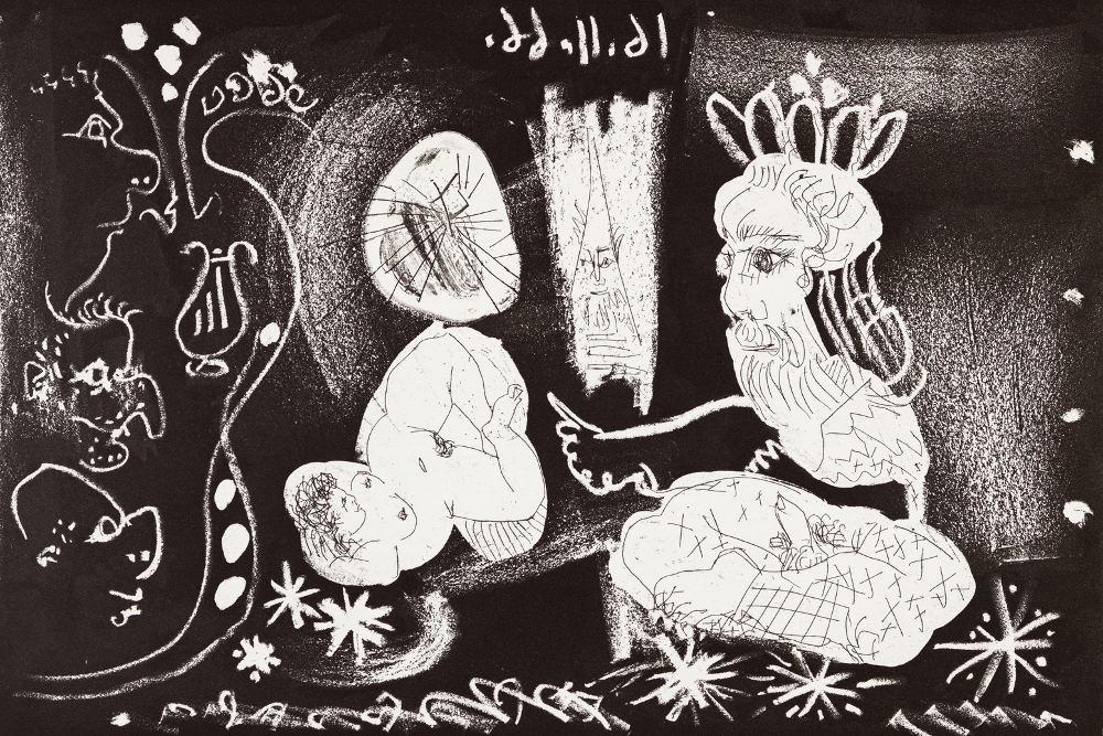 """Пабло Пикассо, """"Великолепный рогоносец"""", 1968"""