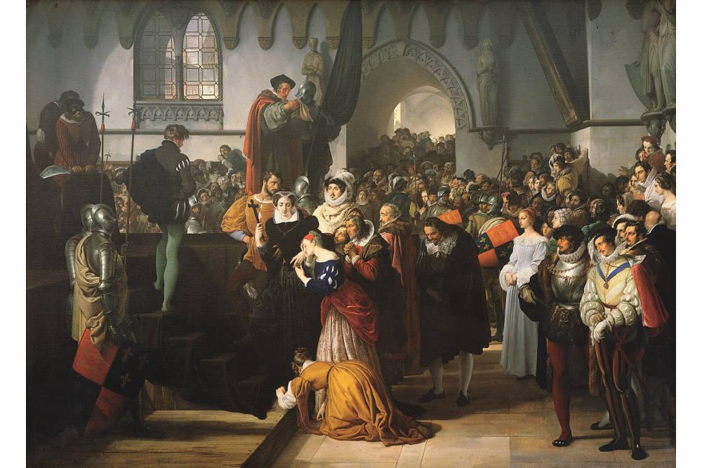 """Франческо Айец, """"Мария Стюарт восходит на эшафот"""", масло, холст, 210 x 293 см"""