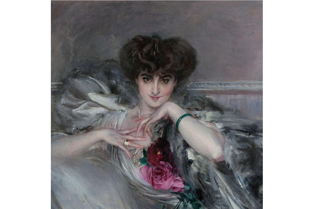 """Джованни Больдини, """"Портрет принцессы Радзивилл"""", масло, холст, 82 x 91 см"""