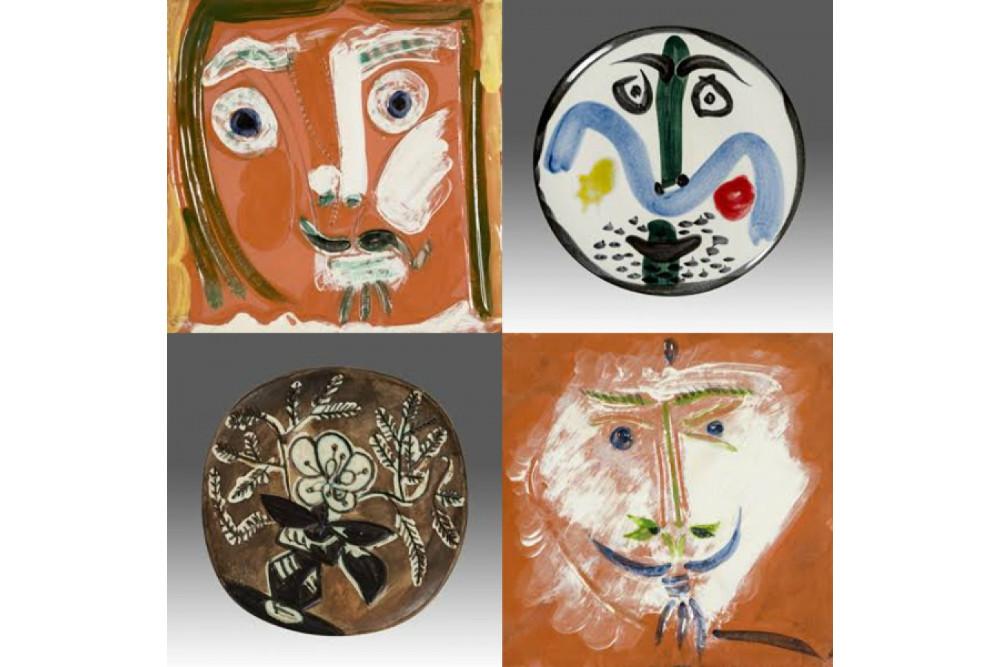 "Пабло Пикассо, ""Лица"" 1963-1969 и ""Ваза с букетом"", 1956"