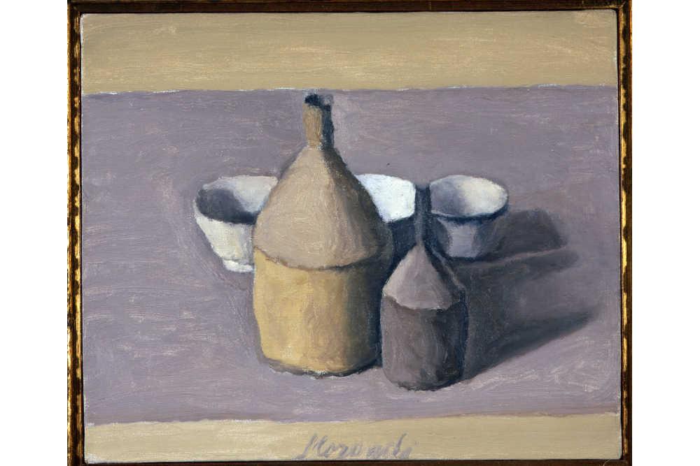 Джорджо Моранди, «Натюрморт», 1958 Холст, масло / Частная коллекция, Турин