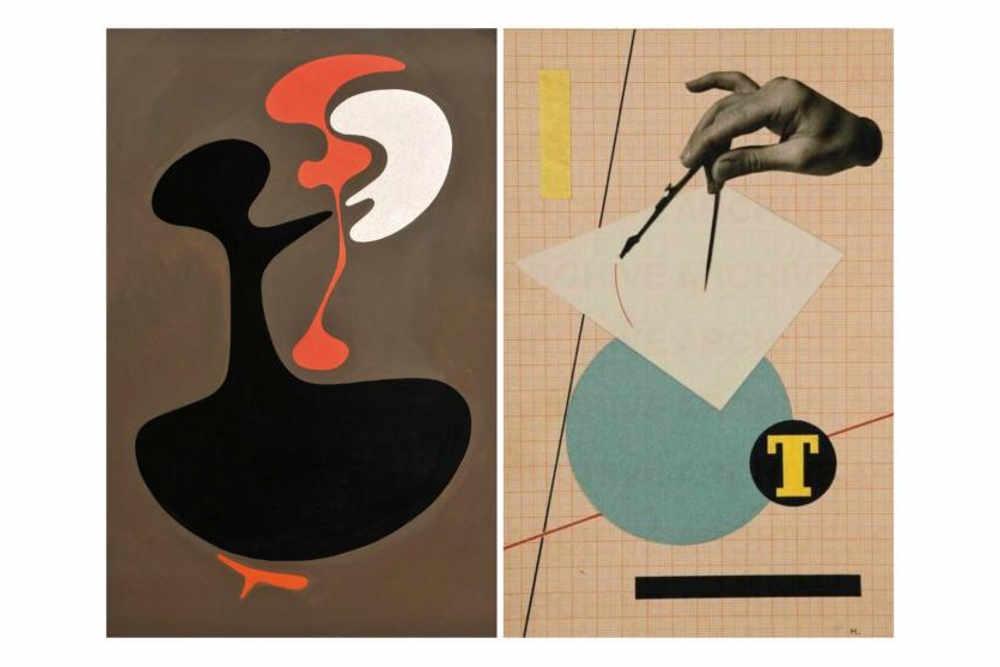 Бруно Мунари, «Две красные формы», 1947, частная коллекция