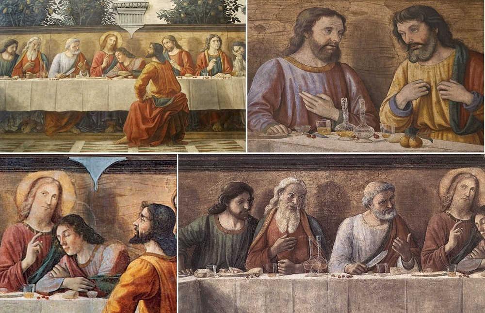 Refettorio_di_ognissanti,_ultima_cena_del_ghirlandaio,_1480,_05