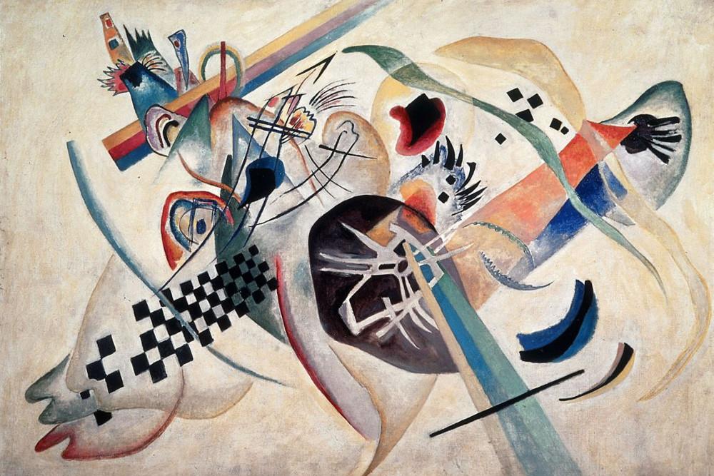 """Composition n. 224 (sullo sfondo bianco)"", V. Kandinskij"
