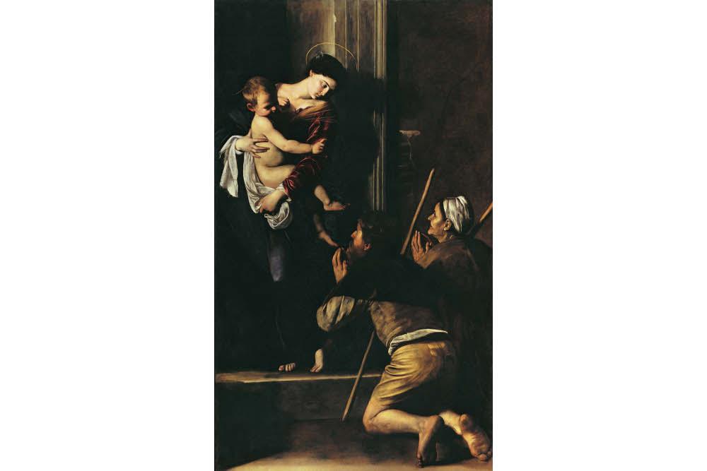 Caravaggio-La-Madonna-dei-Pellegrini-1604-1606-olio-su-tela.-Roma-Basilica-di-SantAgostino-in-Campo-Marzio